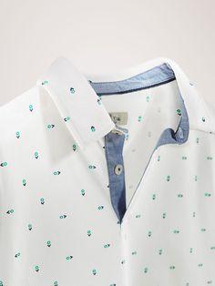 Polos - CRIANÇAS - Massimo Dutti Camisa Floral, Smart Casual Men, Leather Skin, Camisa Polo, Boys Shirts, Kids Boys, Shirt Outfit, Printed Shirts, Polo Shirt