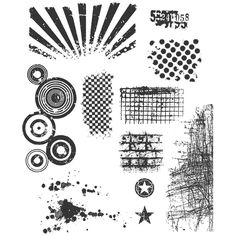 Tim Holtz Cling Stamps - Bitty Grunge