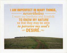 I am imperfect...