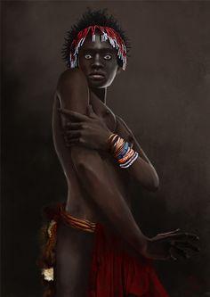ethnic series portraits 1 by Jacek Rudowski, via Behance