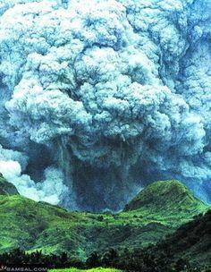 Mt. Pinatubo eruption, Philippines.