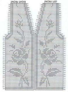 Filet Crochet, Quick Crochet, Crochet Diagram, Crochet Chart, Diy Crochet, Crochet Doilies, Crochet Stitches, Crochet Flower Scarf, Crochet Cardigan Pattern