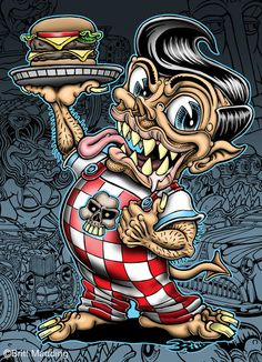 rat rods cartoons   rat rod truck wallpaper opel corsa 94 brabus clk falken drift team ...