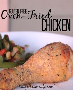 This gluten-free oven fried chicken recipe is so simple, but easily the best one I've tried. Our whole family loves it!