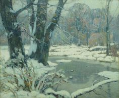 Silvered Brook by John F. Carlson (1874-1945)