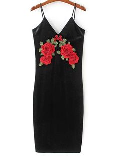 SHARE & Get it FREE | Embroidered Velvet Cami DressFor Fashion Lovers only:80,000+ Items • New Arrivals Daily Join Zaful: Get YOUR $50 NOW!