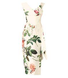 Prestige floral-print silk satin dress by Vivienne Westwood//