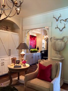 Blog — Providence Design..one of our recently finished living room projects....So pretty with pink.