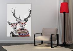 Obraz na płótnie + HIPSTERSKIE LOVE +60x80 cm w LUdesign na DaWanda.com