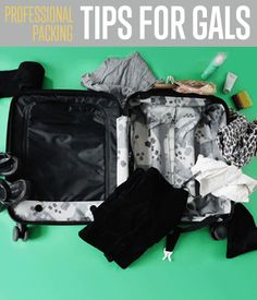 Hacks Every Girl Should Know! How To Professionally Pack A Suitcase - Travel Packing Tips For Gals | http://diyready.com/how-to-professionally-pack-a-suitcase-travel-packing-tips-for-gals/