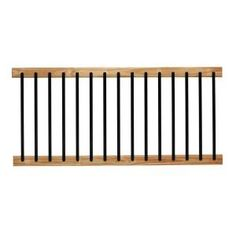 Take your home renovation project to the next level with the help of this DeckoRail Pressure-Treated Cedar-Tone Aluminum Solid Lightning Deck Railing Kit. Deck Railing Kits, Deck Railing Systems, Front Porch Railings, Deck Railings, Stair Railing, Stairs, Front Porch Deck, Loft Railing, Balcony Railing