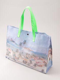 Blue Man Printed Beach Bag - Destination Brazil - Farfetch.com