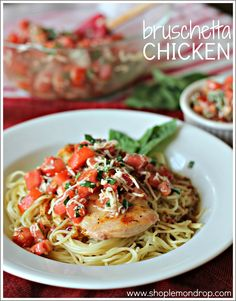 Quick & Easy :: Bruschetta Chicken @Lemon Drop Shop {Brooke}.com