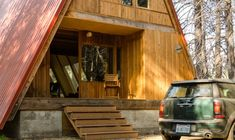 This incredibly awesome A-frame cabin is yet another small house of my dream