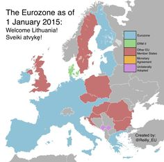 Welcome Lithuania! The Eurozone as of January 1st, 2015