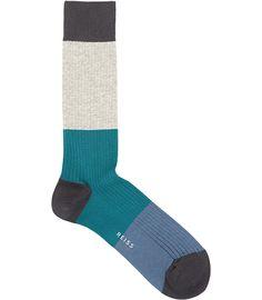 """Tae"" block stripe socks from Reiss. $20. I'm a sock geek."