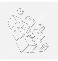 Composition of 3d cubes vector