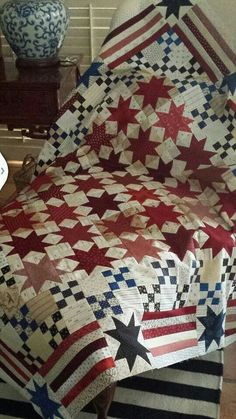 This Patchwork Bib Will Wow New Moms Patriotic Quilts Patchwork Quilting, Scrappy Quilts, Quilt Block Patterns, Quilt Blocks, Patchwork Patterns, Canvas Patterns, Paper Piecing, Red And White Quilts, Quilt Of Valor