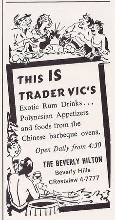 Trader Vic's at the Beverly Hilton, 1962