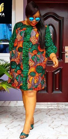 Short African Dresses, Latest African Fashion Dresses, African Print Fashion, Africa Fashion, African Print Dress Designs, Long Skirts For Women, Look Plus, African Attire, Ankara