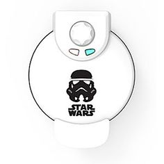 Stormtrooper Waffle Maker - Star Wars | Disney Store Make your first order of the day a fresh, tasty waffle from this electric <i>Star Wars</i> Stormtrooper Waffle Maker. Five temperature settings let you make waffles tender and golden or brown and crispy with a turn of the dial.