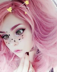 "6,683 Likes, 34 Comments - Slavic doll from poland (@hisuxen.png) on Instagram: ""This app is so weird, what do you think?  Beautycam #pinkhair #dizzy #cute #pastelgoth…"""