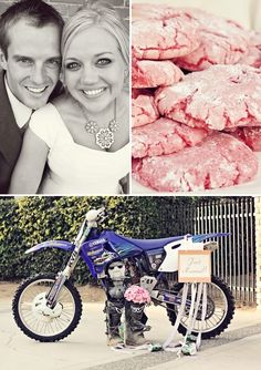 Love the Dirt Bike Idea for a wedding photo someday! <3