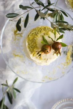 Baklava Inspired Orange Blossom + Pistachio Buttermilk Cake