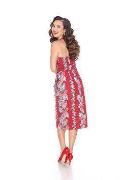 Hilo Honey Sarong Dress in South Pacific