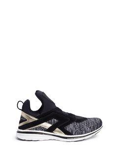 Athletic Propulsion Labs | 'Cielo' metallic leather trim Techloom sneakers