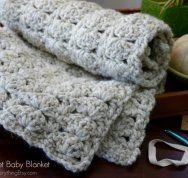Chunky Crochet Baby Blanket #crochet