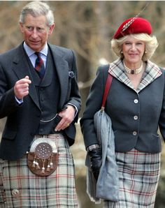 The Prince Of Wales and Camilla, Duchess of Cornwall, 2006.  Charles forgot his red beret.