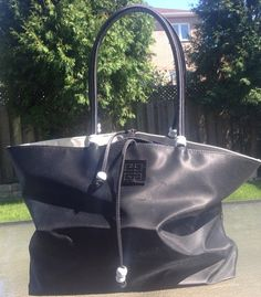 Vintage Black Givenchy Small Tote by MajorDivision on Etsy