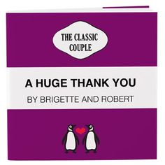 Personalized Notepad Favor with Penguin Couple