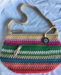 76a6c4d81e5b Vintage THE SAK Women Crochet Multi Color Medium spring summer Purse   TheSak  ShoulderBag