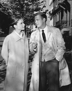 Audrey Hepburn and George Peppard photographed together during the production of Breakfast at Tiffany's, in NYC, New York, November 1960.
