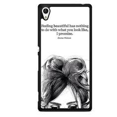 Emma Watson Quote TATUM-3955 Sony Phonecase Cover For Xperia Z1, Xperia Z2, Xperia Z3, Xperia Z4, Xperia Z5