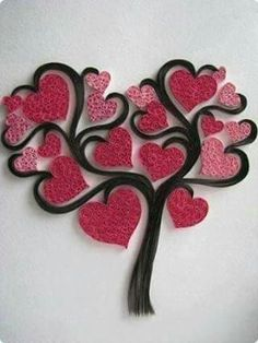 Do All Sorts of Fun with Paper Quilling and Quilling Art Trees? Items similar to handmadeItems similar to handmade Handmade Items similar(Notitle) Do All Sorts of Fun with Paper Quilling and Quilling Art Trees? Arte Quilling, Paper Quilling Designs, Quilling Paper Craft, Quilling Patterns, Paper Crafts, Quilling Ideas, Diy Paper, Valentine Crafts, Valentines