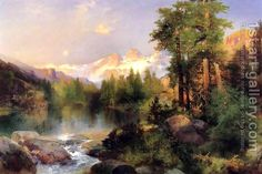 The Three Tetons Thomas Moran | Oil Painting Reproduction | 1st-Art-Gallery.com