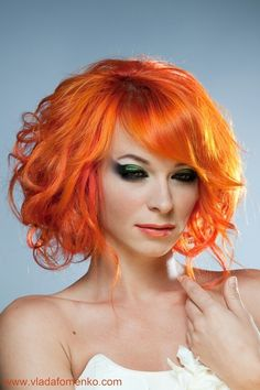 vibrant orange hair I ;ove