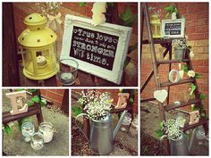 a blog about vintage wooden ladders. The Rustic Bunting Company   Just a step from heaven...