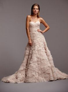 Light blush wedding gown by Watters