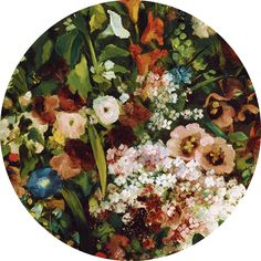 'Bouquet of flowers'. Gustave Courbet