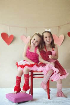 Valentines Sisters - Sweet Giggles Photography