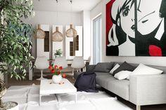 rendering interni soggiorno living room