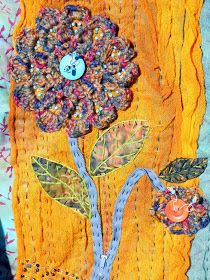 """Gossamer Spring  was made for the Quilts Around The World  Group for the challenge: """"Different"""" . Things that I did new/different for my wor..."""