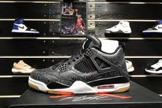 "the best attitude 33377 bc71a 2019 Air Jordan 4 Retro SE ""Laser"" Black White-Gum Light Brown CI1184-001"