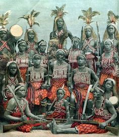 """The Dahomey Amazons or Mino was an all-female military regiment of the Fon people of the Kingdom of Dahomey in the present-day Republic of Benin. They existed from the 17th century to the end of the 19th century. While European narratives refer to the women soldiers as ""Amazons,"" because of their similarity to the semi-mythical Amazons of ancient Anatolia, they called themselves Ahosi (king's wives) or Mino (our mothers) in the Fon language."""