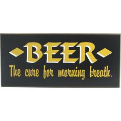 Funny Beer Signs - Home Bar Decor $18