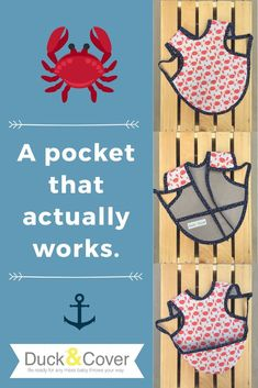 Tired of bibs with pockets that don't actually catch any food? Duck & Cover has created a pocket that actually works! Find out how in the Etsy shop. Getting Ready For Baby, Preparing For Baby, Stocking Stuffers For Baby, Baby Stocking, Baby Accessories, Handmade Accessories, Baby On A Budget, Baby Checklist, First Birthday Gifts